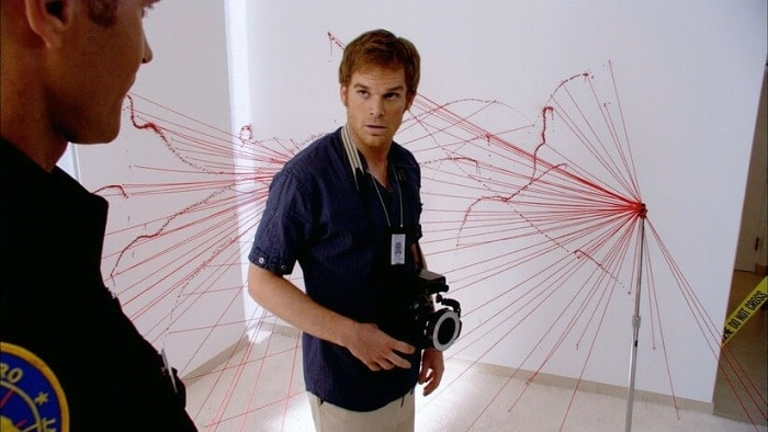 dexter morgan at his day job