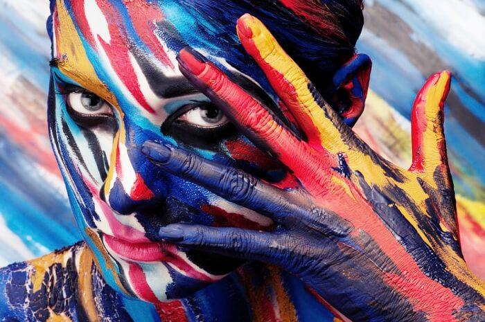 colorful body art