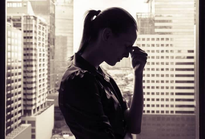 stressed female at work